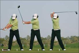 Rory has an amazing straight arm in the back swing.  Consistency pays off.