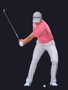 This is the key move for Justin Rose in his downswing.  Just FREEZE this in your brain.