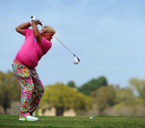 John Daly's driving distance comes from his flexibility.  There must be some core strength in there too.
