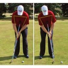 Swing with the large muscles controlling your shoulders.  Lock your wrists to avoid the yips!