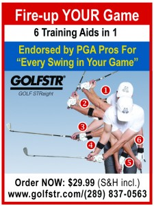 When Chipping learn to avoid the YIPS using GOLFSTR+ in your backswing (#4) and follow-through (#6).