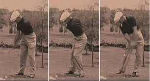 Ben Hogan Swing Thought: Head level, shoulder rotation and weight shift to leading foot