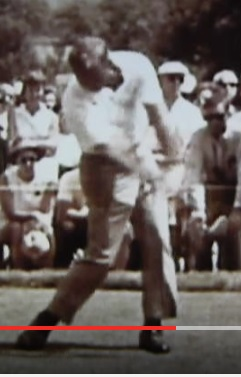 Arnold Palmer threw the back of his leading hand up the target line in a strange lung to finish his swing. It worked for him.