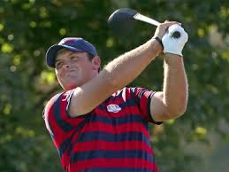 Finish your swing in a balance position. Patrick Reed does it to control the power in his swing.